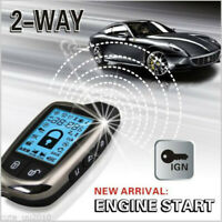2-WAY PAGER CAR/AUTO SECURITY ALARM SYSTEM KEYLESS ENTRY + LCD REMOTE USA STOCK