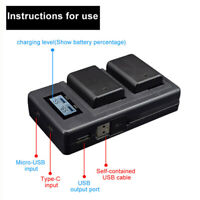 LCD Display Camera NP-FW50 Battery Smart Charger for Sony Alpha A6000 A6300
