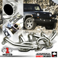 Stainless Steel Exhaust Header Manifold for 00-06 Jeep Wrangler TJ 4.0 AMC 242