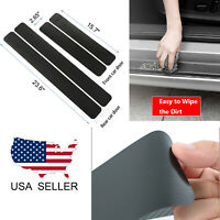 4X Accessories Carbon Fiber Car Door Plate Sill Scuff Cover Anti Scratch Sticker