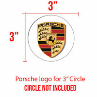 PORSCHE Center Cap 4 pcs Decal set for 2