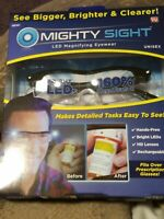 Mighty Sight - As Seen On TV, LED Magnifying Eyewear Glasses, 160% Magnification