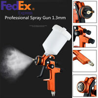 Professional HVLP Spray Gun 1.3 mm with 600ml Cup Auto Car Paint Sprayers USA