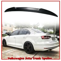 Unpainted For VOLKSWAGEN Jetta MK6 4D Sedan DTO V Type Rear Trunk Spoiler 12-17