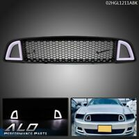 Front Upper LED Honeycomb Style Grille For 2013-2014 Ford Mustang Non-Shelby