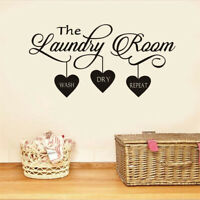 DIY Removable Laundry Room Wall Sticker Vinyl  Art Decal Home Room 285X570mm US