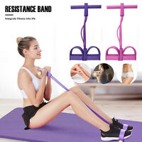 4-Tubes Yoga Equipment Sit-up Fitness Foot Pedal Pull Rope Resistance Exercise