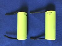 2 of Liion NCR18500A Japan Panasonic 2Ah Rechargeable Cell+TABS+Tube:Upgrade use