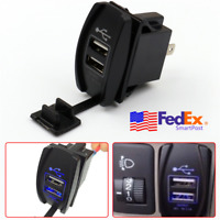Universal LED Dual Car USB Charger Truck Boat Phone GPS Power Outlet 12V 3.1A 1x