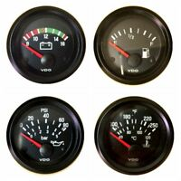 4 Gauge set, VDO genuine gauges, Oil, Temp, Fuel, Volt, 12V, bracket mount