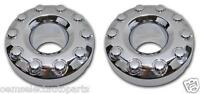 OEM NEW 2005-2014 Ford F-450, F-550 Front Chrome Center Caps PAIR 4WD - 10 Lug
