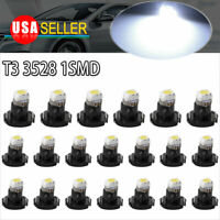 20x White T3 Neo Wedge Cluster Instrument Dash Climate Base LED Bulb Lights Lamp