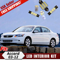 18x Pure White Led Bulbs Interior Lights Package Kit For Honda Accord 2003-2012