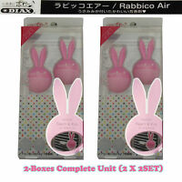 2 Box (4 Set) Rabbico Air Car Vent Clips Air Freshener Peach & Kiss Scent