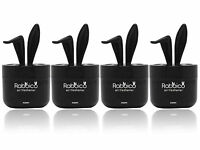 4 Packs RABBICO SWEET Rabbit Car, Home Air Freshener Premium Rich Scent, Black