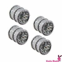 Diamond Ice Crystal Bling Bling Chrome Tire Valve Caps For Car & Motorcycle