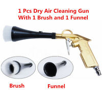 1Pcs Car Dry Cleaning Gun Brush Interior Clean Spray Tool For Vehicle Motorcycle