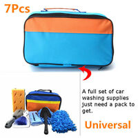 7 Pcs Car Cleaning Kit Products Tools Wash Clean Car Interior Exterior With Bag