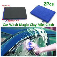 2x Wash Magic Clay Mitt Cloth Care Cleaning Towel Sponge Pad For Car Body Window