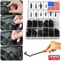 350Pcs Car Body Plastic Push Pin Rivet Fasteners Trim Moulding Clip Screwdriver
