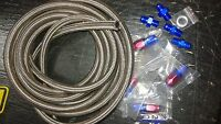 Automatic Transmission Cooler Line Kit -6AN Steel Braided Hose TH350/400 RED