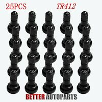 25 Pcs TR412 Tire Rubber Valve Stem Atv, Lawn Mower, Garden Tractor Plug Stem