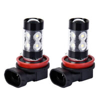 2X H11 H9 H8 200W LED 6000K White Cree Projector Fog Driving Light Bulbs DRL