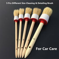 Auto Car Cleaning Brush Detailing Tools Bristle Hair Wooden Handle For Car Care