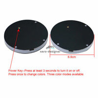 Switchable 7 Colors LED Car Cup Holder Bottom Pad Atmosphere Light For Nissan