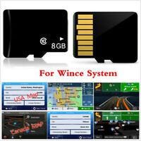 8GB Micro SD Card Car GPS Navigation North America Map Software For WinCE System