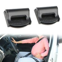 2pc Car Seat Belt Stopper Clips Auto Buckle Strap Adjuster Clamps Safe Comfort