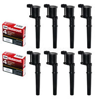 8pcs Motorcraft Spark Plugs SP493 & Ignition Coils DG512 Ford Lincoln Mercury