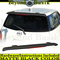 For 2004 2005 2006 Scion xA MATTE BLACK Factory Style Spoiler Wing Roof Fin W/L