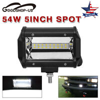 2pcs 7inch 4 Row 336W Spot Flood Combo LED Work Light Bar For Offroad Jeep Truck