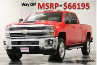 Chevrolet Silverado 2500 HD MSRP$66195 4X4 LT Diesel Leather GPS Red Crew 4WD New 2500HD Duramax Heated Bench Seats Camera Navigation 17 2017 18 Cab 6.6L V8