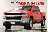 Chevrolet Silverado 1500 MSRP$45245 4WD Camera Red Hot Crew 4X4 New Power Options Bench Seats 5.3L V8 Bluetooth 17 2017 18 Cab Truck For Sale