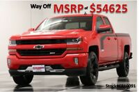 Chevrolet Silverado 1500 MSRP$54625 Leather GPS Red Rally 2 Edition Double 4WD New Navigation Heated Bench Seats Camera Bluetooth Black Stripes 17 2017 18 Ext
