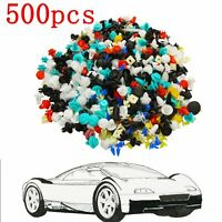 500pcs Mixed Car Door Panel Trim Fenders Bumper Rivet Retainer Push Pin Clips US