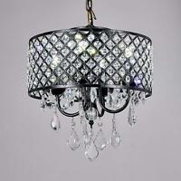 Broadway Black Classic Crystal Chandeliers Modern Lamps Pendant Light Ceiling X