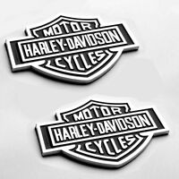 2x OEM Harley Davidson Fuel Tank Chrome Emblems Badges S Dyna Sportster Chrome