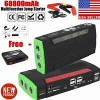 68800mAh Portable Car Jump Starter Power Bank Vehicle Battery Booster Charger MY