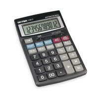 VICTOR Finance Desktop Calculator,LCD,12 Digits, 1180-3A