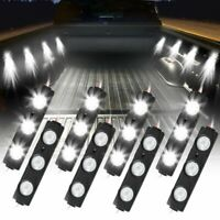 8PC Waterproof Pickup Truck Bed Light  Led Rock Light 24 LED Pod Kit Strip White