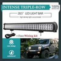 28inch 1260W Philips Led Light Bar Spot Flood Driving Offroad SUV 4x4WD 28