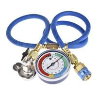 Car Air Conditioning Repair Tools Universal Fluoride Tube w/ Cold Pressure Gauge