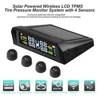 Solar Power Car Tyre Tire Pressure Monitoring System TPMS + 4 Sensors for Truck