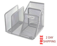 Desk Organizer Mesh Pen Pencil Letter Sorter Holder Maximizes Desktop Space