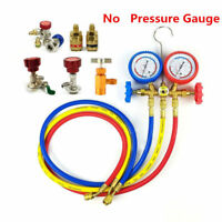 Car Air Conditioning AC Refrigerant Recharge Gas Pressure Gauge R134A Hose Valve