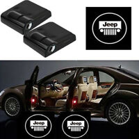2x CREE CHIPS For JEEP LOGO Wireless Car LED Door Projector Ghost Shadow Lights