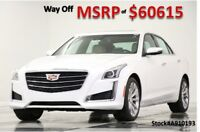 2019 Cadillac CTS MSRP$60615 AWD Luxury Sunroof GPS White Sedan New Heated Cooled Leather Navigation CTS4 3.6L V6 Camera Bluetooth CUE 18 17 19